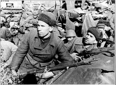 Perhaps the longest, bloodiest battle in modern history - The Battle of Stalingrad.  Soviet army held off Hitler's troops through desperate conditions - a starving city, not nearly enough arms, not enough warm clothing.  Ultimately changing the tide of the war.