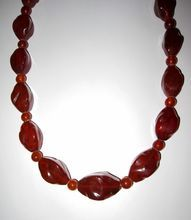 Vintage Large Amber Beads Necklace