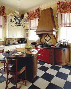 Шторы для кухни - 2015: стильные новинки (75 фото) http://happymodern.ru/shtory-dlya-kuxni-2015-stilnye-novinki-75-foto/ Кухня в стиле ретро хорошо сочетает цвета Смотри больше http://happymodern.ru/shtory-dlya-kuxni-2015-stilnye-novinki-75-foto/