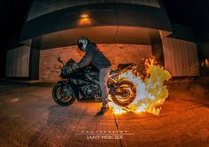 Flaming Street Bike Tire