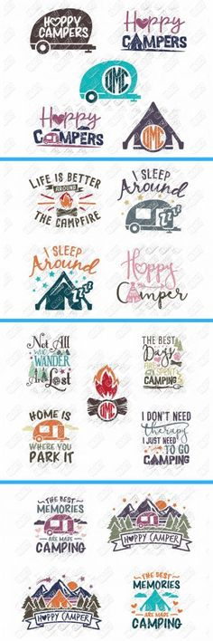 Big SVG Bundle with over 100 cut files! Camping, Summer, Parenting, Mom Life/Motherhood, Coffee and so many more! SVG cut files for use with Cricut and Silhouette machines! Vw Camping, Camping Signs, Camping Crafts, Glamping, Camping Jokes, Travel Crafts, Camping Theme, Camping Ideas, Plotter Silhouette Cameo