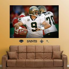 Fathead New Orleans Saints Drew Brees In Your Face - Wall Sticker Outlet