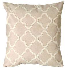Crochet Tile White Outdoor Pillow   DFOHome