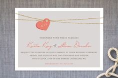 """Shabby Chic Wedding Invites! They have such a unique and romantic feel to them. Shop """"Tangled Love"""" Wedding Invitations by Jennifer Postorino at http://www.minted.com/store/jennypostorino"""
