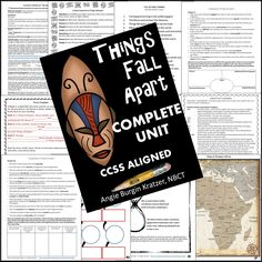 This 100-page unit on Chinua Achebe's Things Fall Apart includes detailed lesson plans, vocabulary workouts, reading accountability quizzes, writing assignments, seminar guidance, rubrics, and map work. $