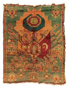 Vintage Turkish handwowen carpet.