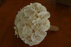 Hey, I found this really awesome Etsy listing at https://www.etsy.com/listing/152472539/wedding-bouquet-ivory-sola-wood-bouquet