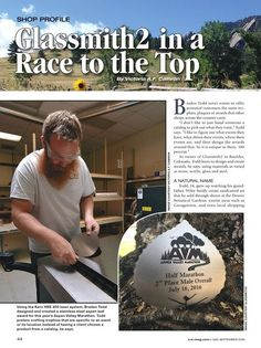 Check out this #shopprofile on Glassmith2 in the most recent Awards and Engraving Magazine! We love seeing how creative #Glassmith2 has been with their #Kernlaser, as well as all of the positive feedback we've gotten from them!