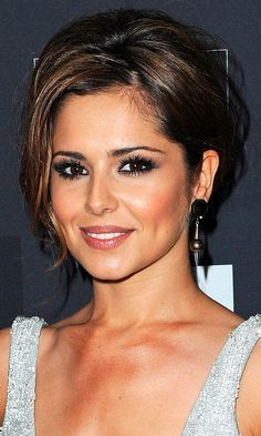Cheryl Cole Goes For A Classic Evening Hairstyle At The AZ Party In Paris, 2010