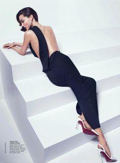 """Fashion is instant language"". Miuccia Prada Visit www.colettewerden.com #colettewerden  X  #style #fashion #stylist #woman #sexy #elegant #lowback #jumpsuit"