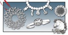 Hand & Hammer Silversmiths.  Sterling silver jewelry, charms, ornaments, custom collections. http://greatrep.com/VendorProfile.aspx?id=4624
