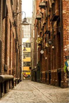 Cobbled lanes of Melbourne from $34.99 | www.wallartprints.com.au #MelbournePhotos #AustralianLandscapePhotography