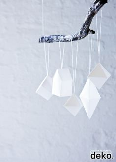 Decor for our bedroom DIY: Geometrical Christmas Ornaments