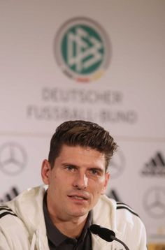 Mario at a press conference for the German NT Mario Gomez, My Sisters Keeper, Jodi Picoult, Dont Love, Loving Someone, Conference, German, Soccer, Sleep