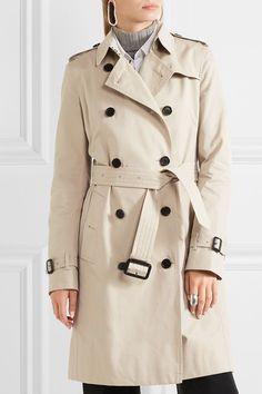 Burberry   Kensington langer Trenchcoat aus Baumwoll-Gabardine   NET-A-PORTER.COM
