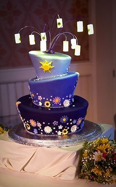 Disney-Themed Wedding Cakes We're Obsessed With