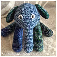 Nephi-Handmade: blau-grüner Elefant