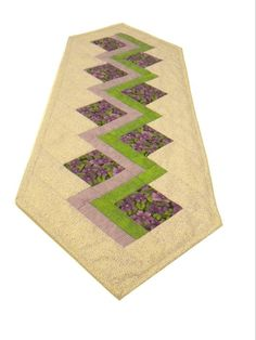 Polka Dot Piecrust Purple Table Runner   Ready2Sew Kit