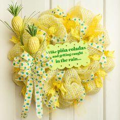 "31"" Glitter Pineapple Spray"