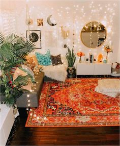Versatile energized meditation room design try this website Zen Room, Boho Room, Boho Living Room, Bright Living Room Decor, Gypsy Room, Bohemian Living, Bohemian Rug, Room Ideas Bedroom, Decor Room