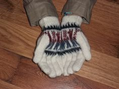 Gloves hand knitted alpaca wool Warm soft and by CatsAndWool, $23.00