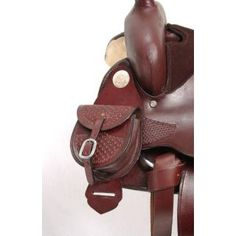 Tough-1 Saddle Pocket Bag w/ Basketweave