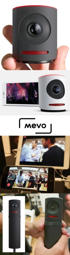 The Livestream Mevo live event camera ($400) is a complete palm-sized, on-location broadcasting and editing solution. Armed with an iPhone, users can smoothly pan in and out or let the Mevo's people-recognition feature follow the on-air talent as they move. Users can create six virtual cameras and switch between them with one touch. The @livestream Mevo has a 150-degree lens and works with Facebook Live. A $250 Boost grip adds 10 hours of battery life plus an Ethernet port. CLICK THE PIC