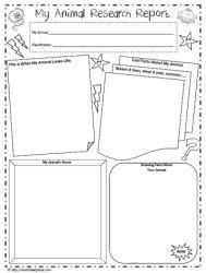 000 animal report template Making Lemonade in Second Grade