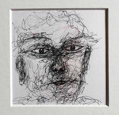 Porträtzeichnung abstrakt