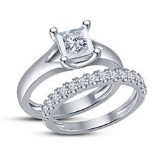 Princess Cut Brass Sim Diamond Engagement Bridal Ring. Starting at $1