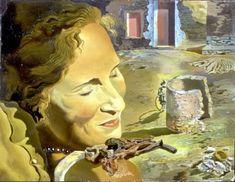 Retrato de Gala con dos costillas de cordero en equilibrio sobre su hombro.