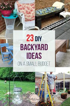 Looking for DIY backyard ideas, that will make the most of your time and money? These projects are easy and affordable! Backyard Planters, Outdoor Garden Bench, Backyard Landscaping, Backyard Ideas, Outdoor Decor, Porch Ideas, Patio Ideas, Landscaping Ideas, Outdoor Living