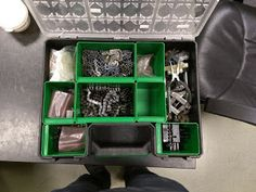 What's in the Box? - Chain Case   This is a pretty simple one. We keep a case that has our chain tools master links and some amount of chain in it so we can make repair when needed. We have #25 and #35 roller chain master links & half links in the box.  Theses are the cases that we use for larger items:Stack-ON DCOG-10 cases. We label the front of each case so we know what's in it and if we leave it at an event hopefully it will find it's way back to us.  We like to keep the specialty tools…