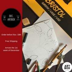 December ARTBOX, Art Subscription, Art Project, Art Supplies, DIY, Art Challenge, How to draw, Illustration, Christmas, Gifts, Christmas Gifts, Art Gifts