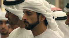 Mohammed bin Zayed bin Sultan Al Nahyan y Hamdan bin Mohammed bin Rashid Al Maktoum, funeral de Rashid bin Mohammed bin Rashid Al Maktoum, Dubai, 19/09/2015