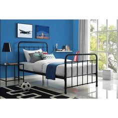 Better Homes and Gardens Kelsey Metal Bed and Colors | Jet.com