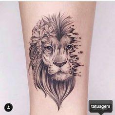 Imagen De Un Tatuaje De León Para Mujer Ideas De Tatuajes