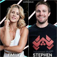 . They are so freaking cute  . . #arrow #stephenamell #oliverqueen #greenarrow #olicity #stemily #emilybettrickards #emilybett #felicitysmoak #arrowseason6