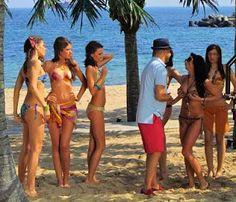 Music video with bikini models at the Black Sea - Varna, Bulgaria