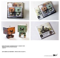 Limited edition of World War Robot book's Japanese version debuts at LGOT show! Shown here with two 1:6th Squares included. Blister carded package, and its backcard works as a silpcase for the book. Full info here http://www.threeajapanshow.com/ #threeA #WorldOf3A #AshleyWood #LGOT #Wonderfest #Japan #artpiece #toy #actionfigure #toyplanet #toycommunity #toys #hobby #toycollector #art #collectibles #vinyl #designertoys #toyphoto #toyphotography #collecting #photography #photo #toylife