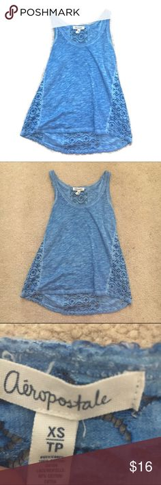 Aeeopostale acid wash lace tank top 11.5 inch bust and 21 inch length. Perfect condition and cool pattern Aeropostale Tops Tank Tops