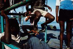 Alex Webb 1988 HAITI. Port-au-Prince. 1988. On the docks.
