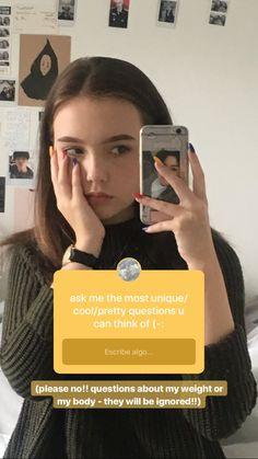 Insta Photo Ideas, Photos Tumblr, Aesthetic Girl, Story Ideas, School Outfits, Instagram Story, Cute Girls, My Girl, Goals