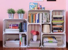 How to furnish your home with DIY: ideas and solutions for every room - DIY House ideas - - Home Office Decor, Diy Home Decor, Crate Shelves, Pallet Shelves, Diy Casa, Wood Crates, Room Organization, Pallet Furniture, Home And Living