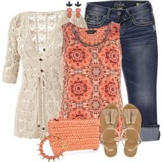"""kaleidoscope Top"" by fantasy-closet on Polyvore"