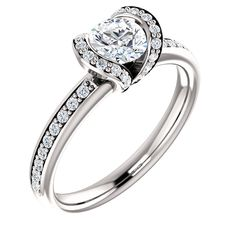 14K White 1/4 ct Diamond Semi-Mount Struller Engagement Ring. Available at Westmount Jewellers. Edmonton, Alberta. Contact: pinterest@westmountjewellers.com