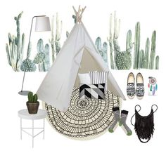 """""""Boho"""" by polyvorenads ❤ liked on Polyvore featuring interior, interiors, interior design, home, home decor, interior decorating, CB2, Pier 1 Imports, Kate Spade and Renwil"""