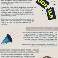 This is an infographic that provides 10 steps to effective goal setting. Setting goals is imperative not only in business, but also in our personal li