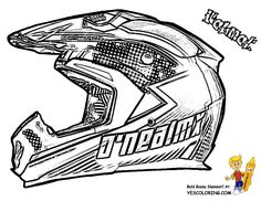 Dirt Bike Helmet Coloring Page sketch template | art | Pinterest ...