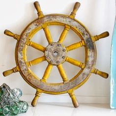 Ship Wheel Decor -A Stylish Spin on the Old Captain's Wheel